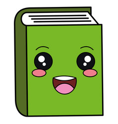 text book kawaii character vector image
