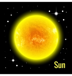 The Sun 3d High quality vector image vector image