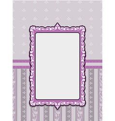Vintage card design with tag Scrap template vector image vector image