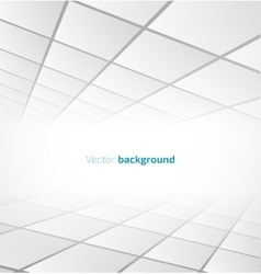 Abstract white tiled background with a perspective vector image vector image