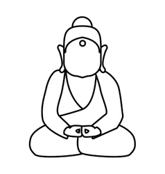 Buddha icon Indian Culture design graphic vector image
