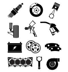 Car parts icons set vector image vector image