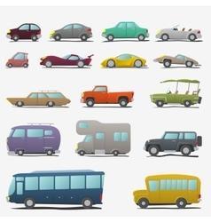 Cartoon cars set vector image vector image