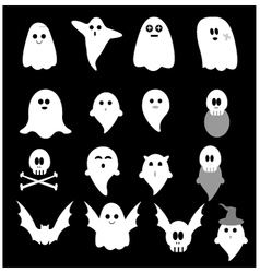 Cute little ghost vector image