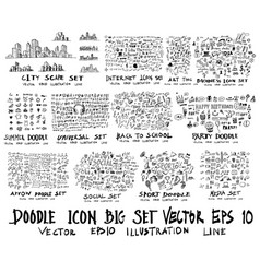 mega set of doodles super collection of arrow vector image