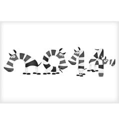 New year strips zebra horses vector image