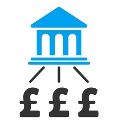 Pound bank scheme flat icon symbol vector