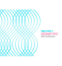 abstract geometric background with waves vector image
