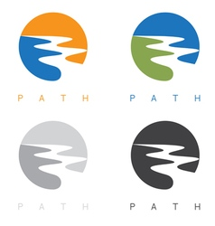 Abstract path or river labels set vector