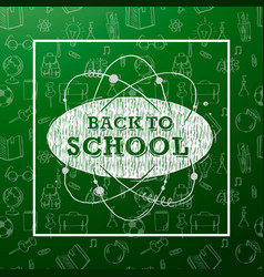 Back to school banner with texture line art icons vector