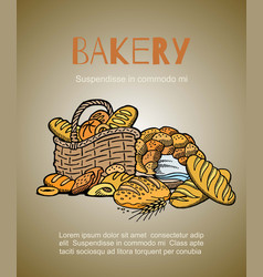 bakery and homemade bread shop vector image