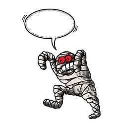 bandaged mummy-100 vector image