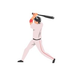 baseball player swinging bat male athlete vector image