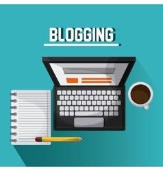 Blogging design Media icon Colorful vector