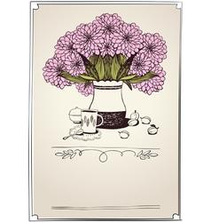 bouquet chrysanthemums vector image