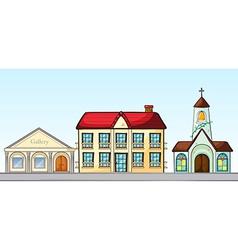 Buildings on street vector