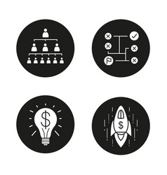 business concepts icons set vector image