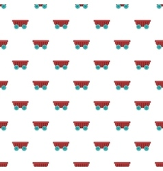 Cart on wheels pattern cartoon style vector image