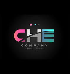 Che c h e three letter logo icon design vector