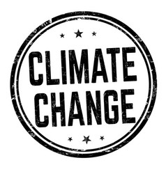 climate change sign or stamp vector image