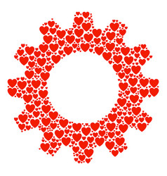 cog mosaic of love heart icons vector image