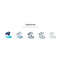 Corruption icon in different style two colored vector