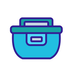 Crock-pot with timing icon outline vector
