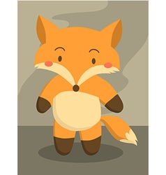 Cute little fox cartoon vector