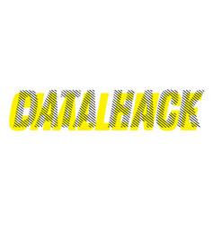 Data hack stamp on white vector