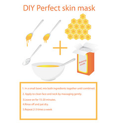Diy skin mask for face vector