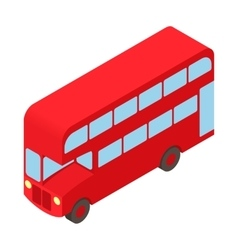 Double decker bus icon cartoon style vector image