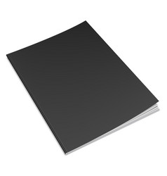 empty black book template vector image