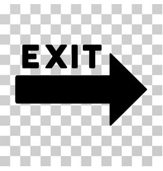 Exit arrow icon vector