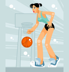 female basketball player vector image