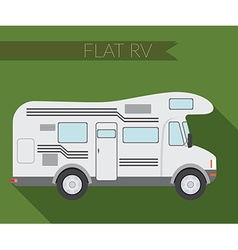 Flat design city Transportation RV for travel and vector image