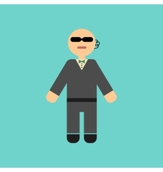 Flat icon stylish background poker male guard vector
