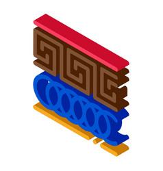 greek ornament isometric icon vector image