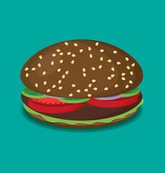 Hamburger flat design vector