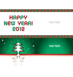 Happy new year - paper tape font 2012 vector