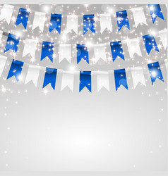 holiday card making flags in the colors of the vector image