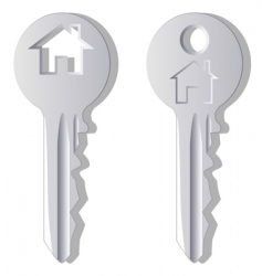 household key vector image