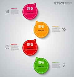 Info graphic with colored design pointers template vector