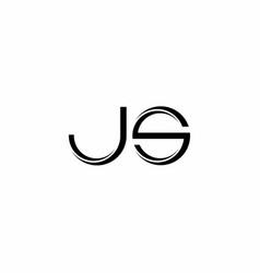 Js logo monogram with slice rounded modern design vector