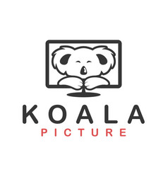 Koala picture in led monitor display modern cute vector