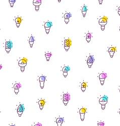 Light bulbs seamless pattern vector