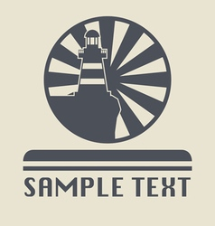 Lighthouse icon or sign vector image