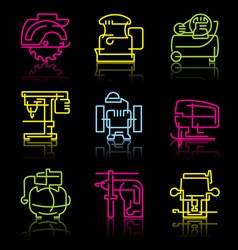 line icons of power tools vector image