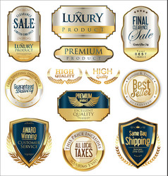 Luxury retro badge and labels collection 2 vector