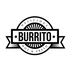 Mexican Cuisine vintage sign - Burrito vector image