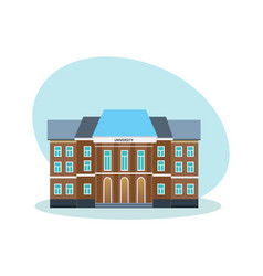 Modern university building educational system vector